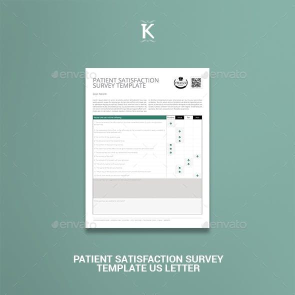 Patient Satisfaction Survey Template US Letter
