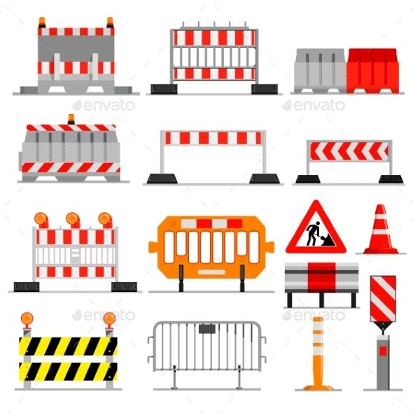 Road Barrier Vector - Miscellaneous Vectors