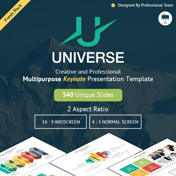 Universe - Creative Multipurpose Keynote Presentation Template