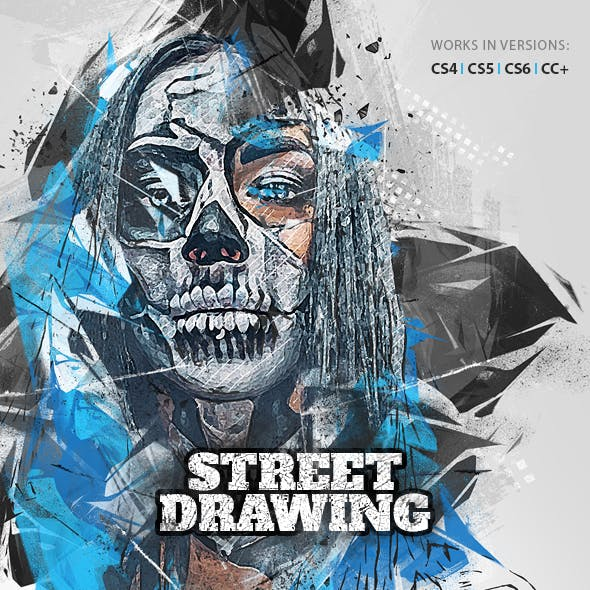 Street Drawing Photoshop Action