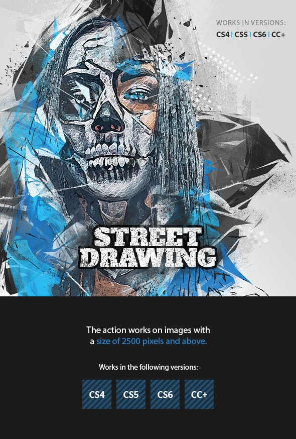 Street Drawing Photoshop Action - Photo Effects Actions