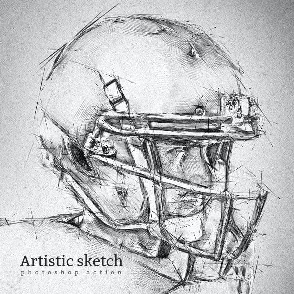 Artistic Sketch 2 Photoshop Action