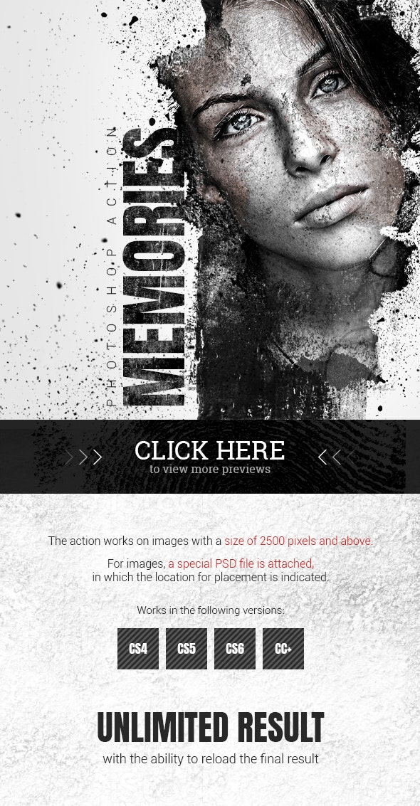 Memories Photoshop Action - Photo Effects Actions