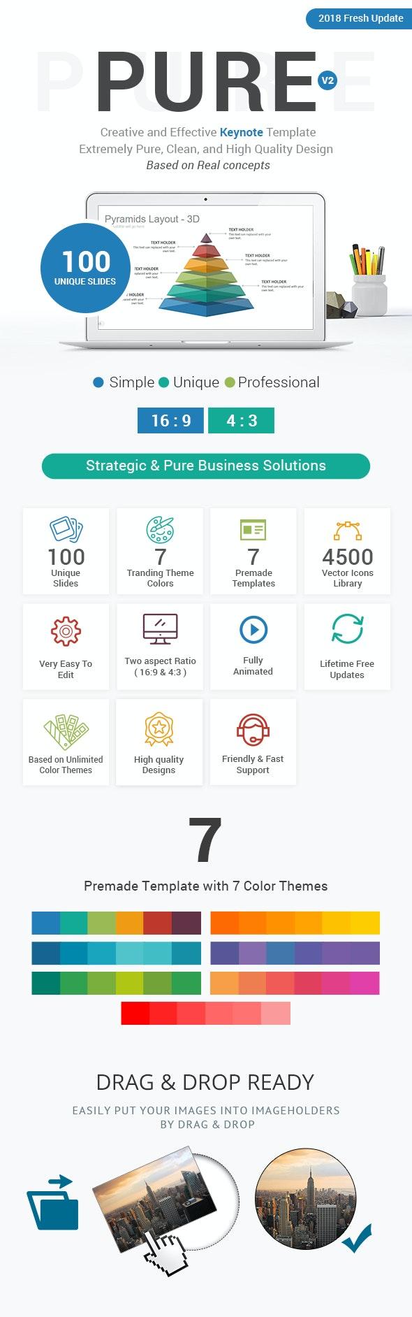 Pure Keynote Presentation Template - Business Keynote Templates