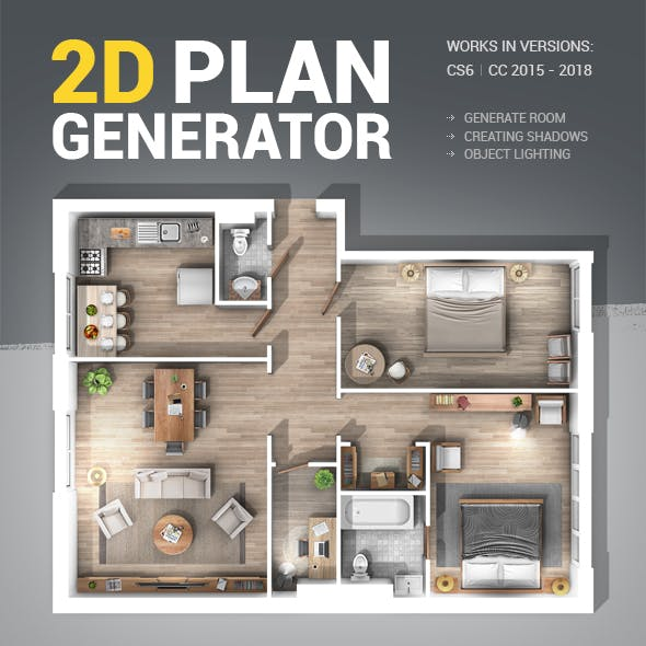 2D Plan Generator Photoshop Action