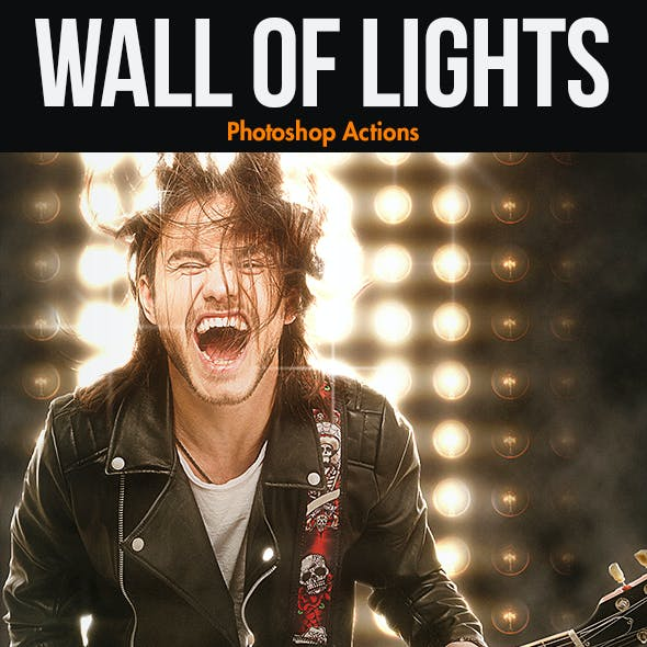 Wall of Lights - Photoshop Actions