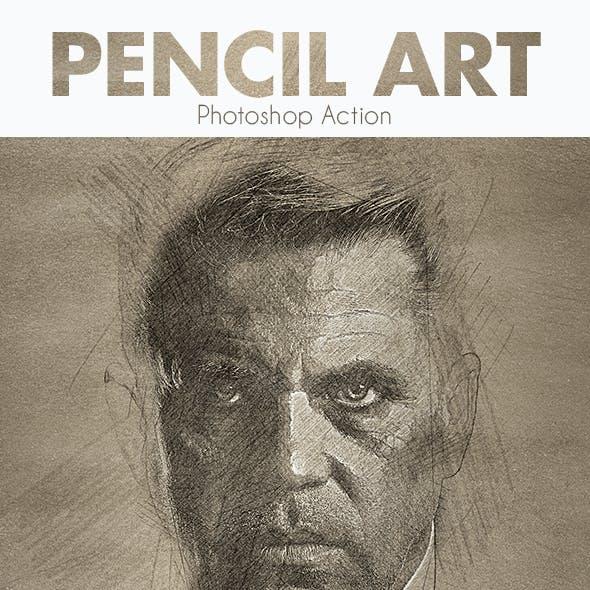 Pencil Art - Photoshop Action