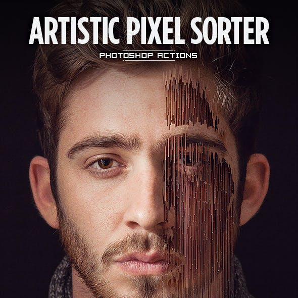 Artistic Pixel Sorter - Photoshop Actions