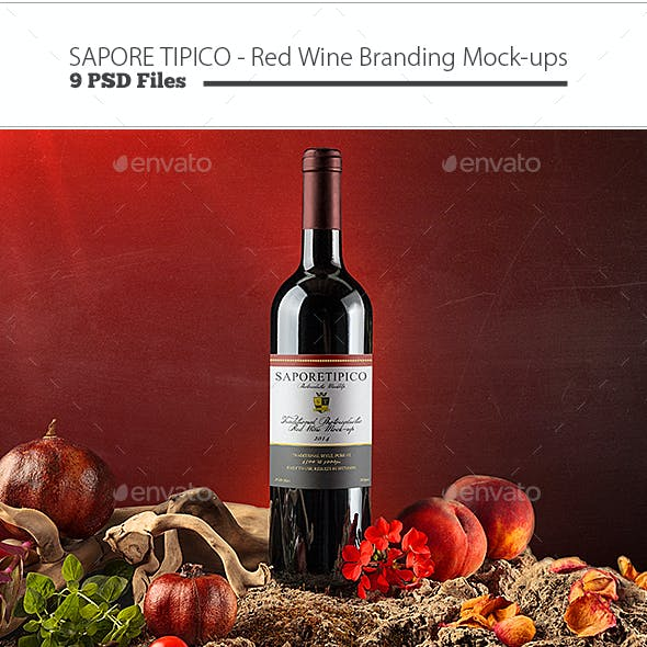Sapore Tipico - Red Wine Branding Mock-ups