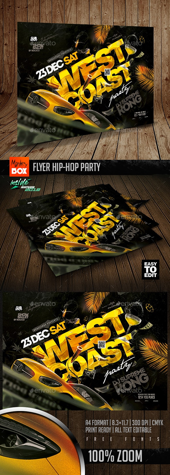 Flyer Hip-Hop Party - Clubs & Parties Events