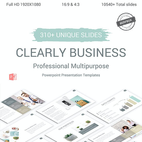 Clearly Business Powerpoint Presentation Template
