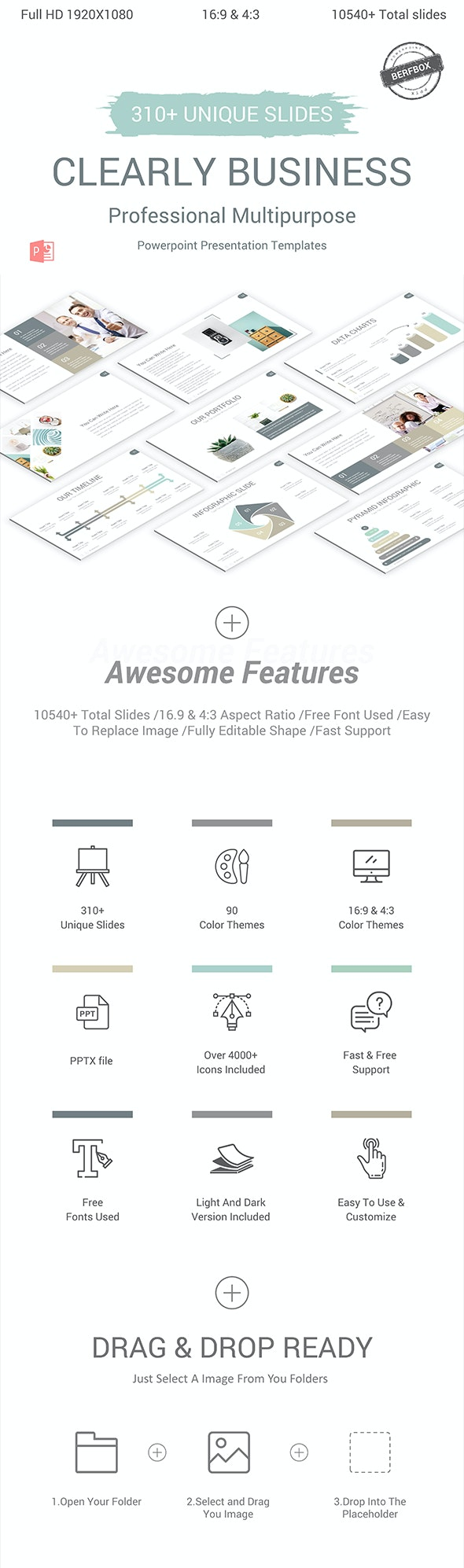 Clearly Business Powerpoint Presentation Template - PowerPoint Templates Presentation Templates