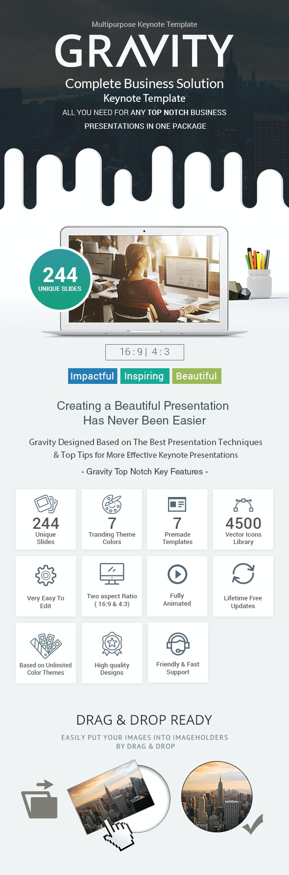 Gravity Keynote Presentation Template - Best Business Solutions - Business Keynote Templates