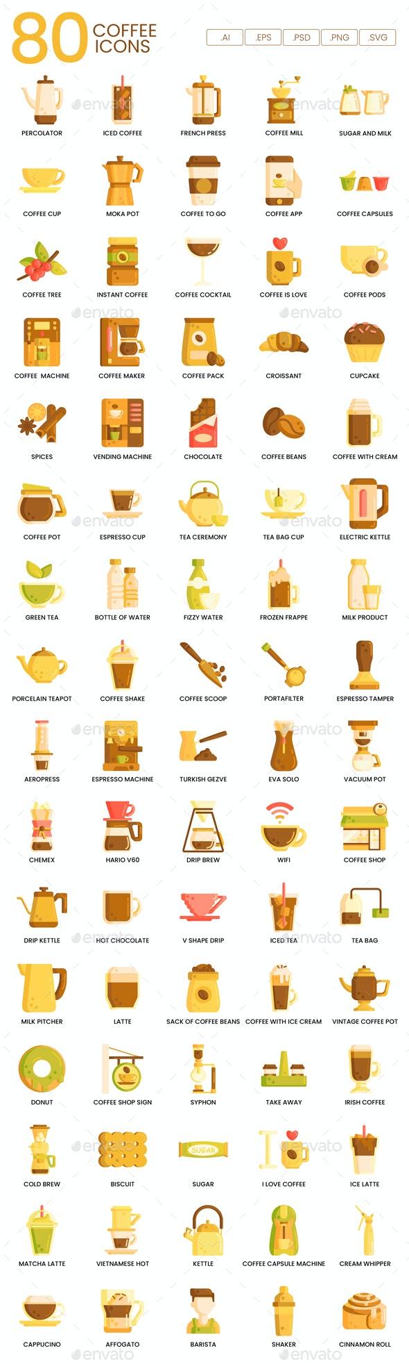 Coffee Icons - Hazel - Food Objects