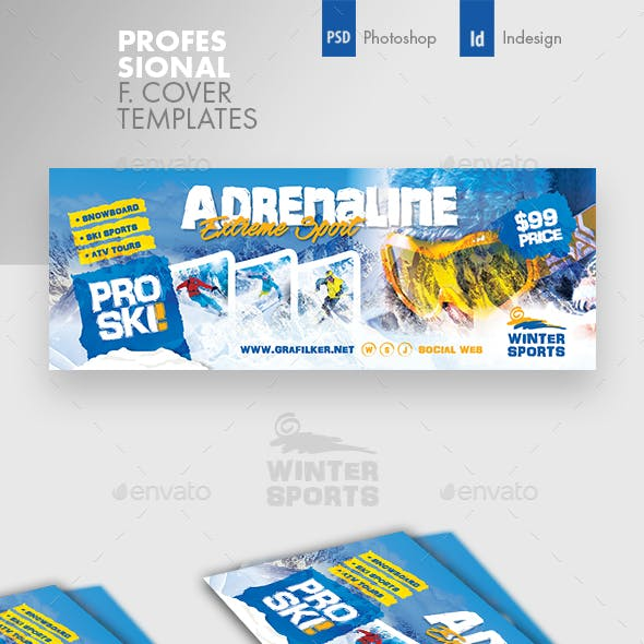 Winter Adventure Cover Templates