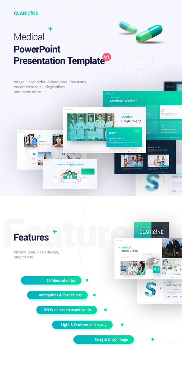 Claricine Medical Powerpoint Template By Brandearth