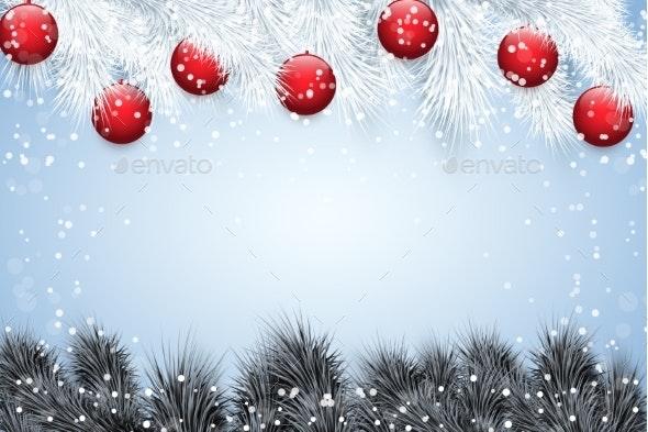 Christmas Snow Background - Christmas Seasons/Holidays
