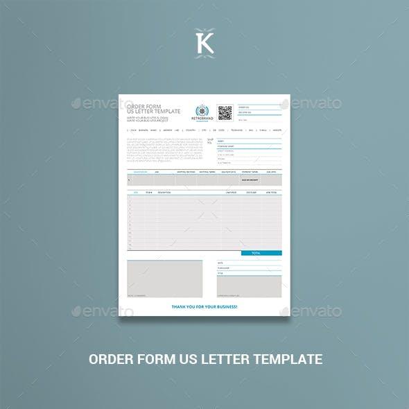 Order Form US Letter Template