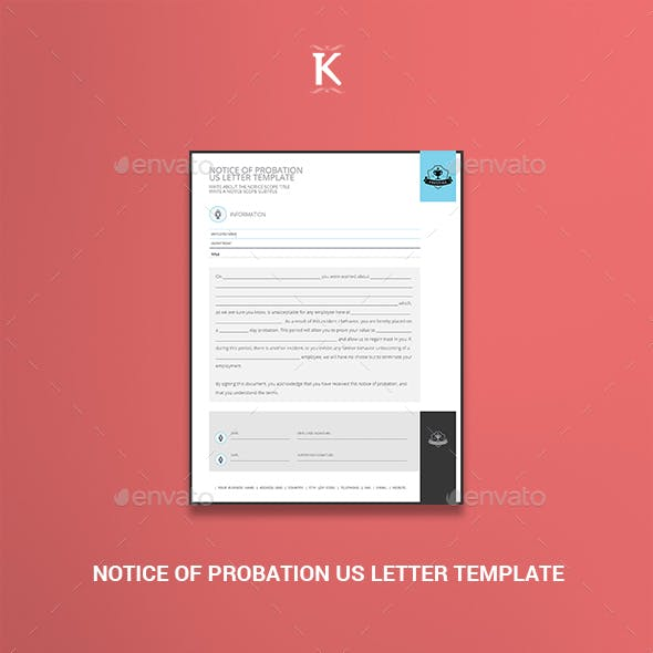 Notice of Probation US Letter Template