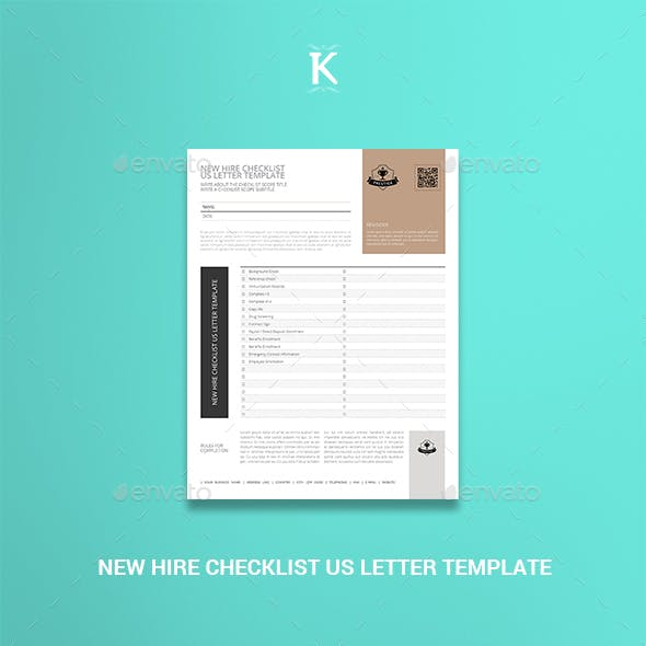 New Hire Checklist US Letter Template