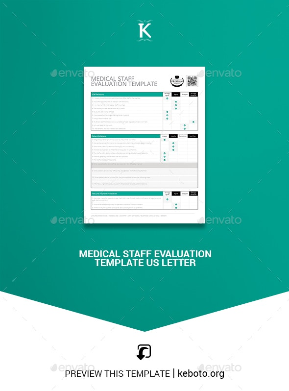 Medical Staff Evaluation Template US Letter - Corporate Flyers