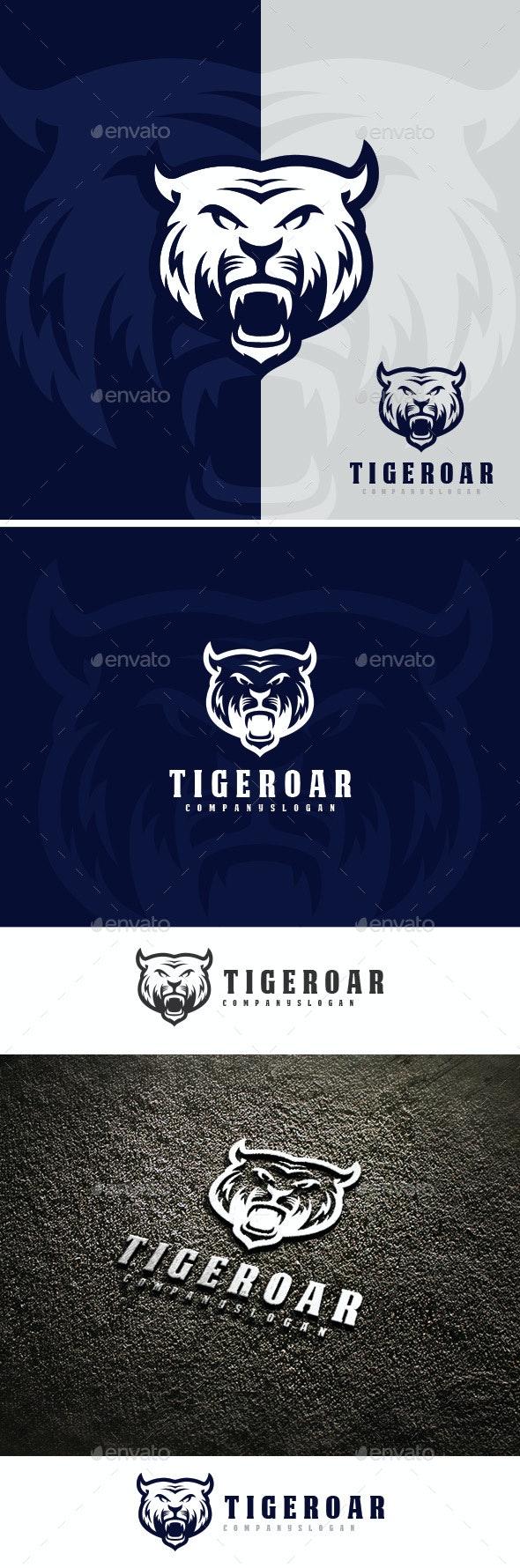 Tiger Roar Logo - Animals Logo Templates
