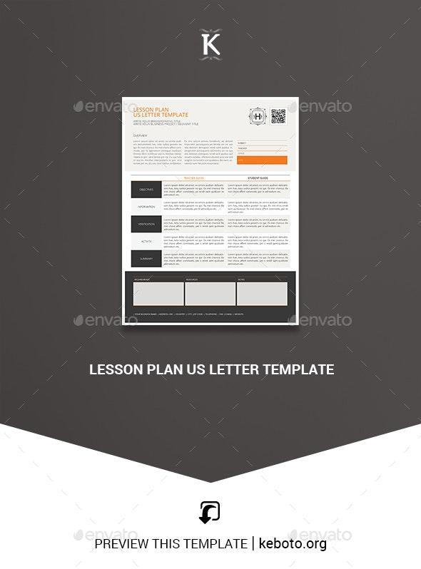 Lesson Plan US Letter Template - Miscellaneous Print Templates