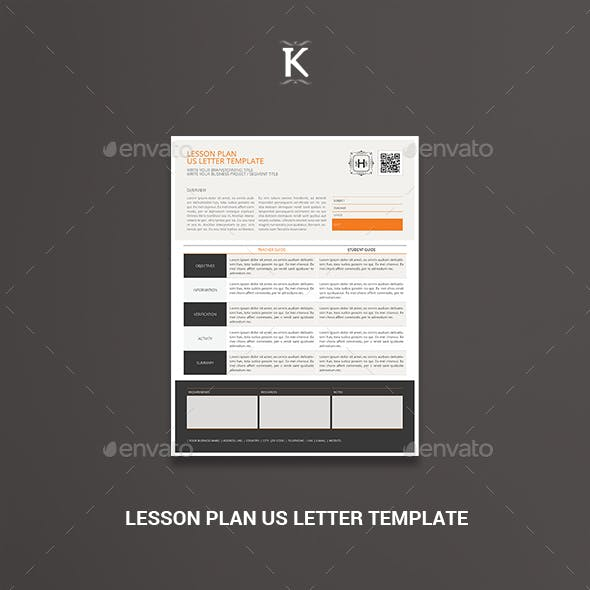 Lesson Plan US Letter Template