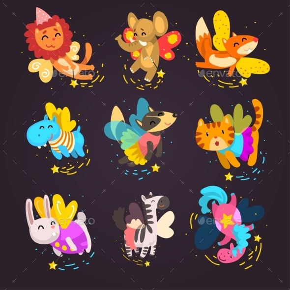 Collection of Winged Animals - Animals Characters
