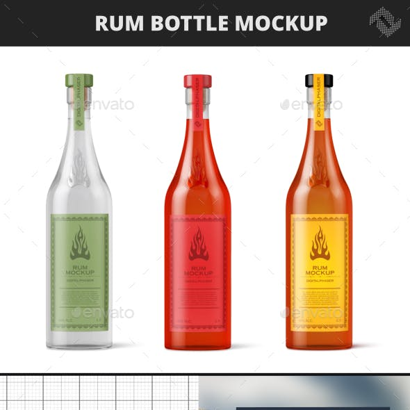 Rum Bottle Mock-Up
