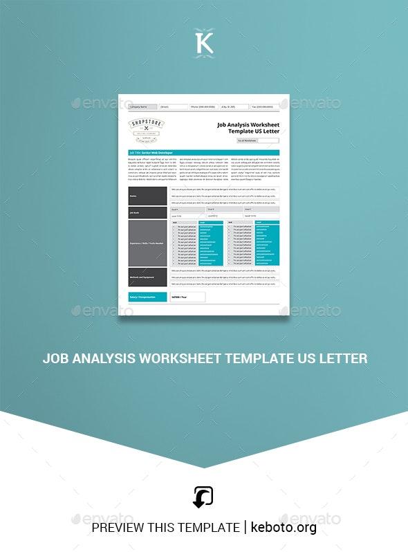 Job Analysis Worksheet Template US Letter - Miscellaneous Print Templates