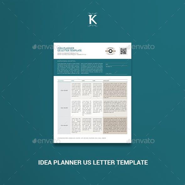 Idea Planner US Letter Template