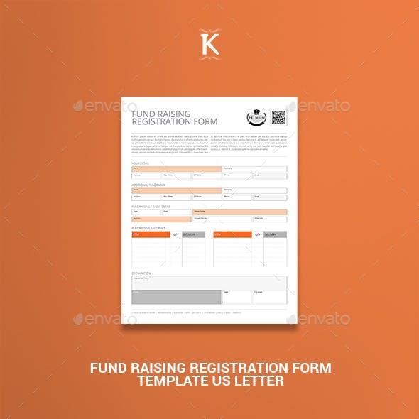 Fund Raising Registration Form Template US Letter