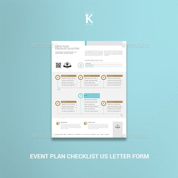 Event Plan Checklist US Letter Form
