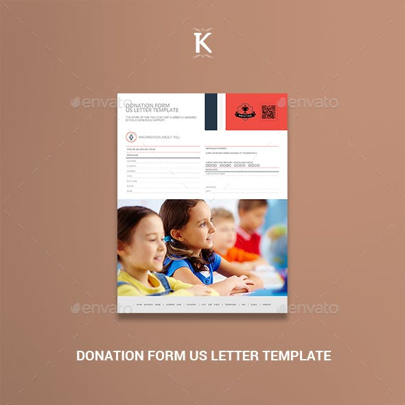 Donation Form US Letter Template