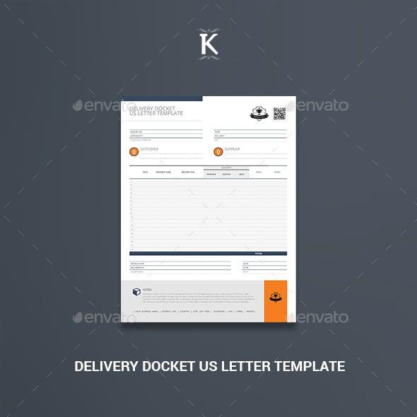 Delivery Docket US Letter Template