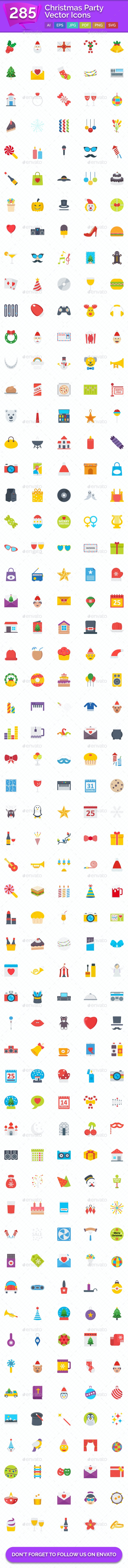 285 Christmas Party Vector Icons - Icons