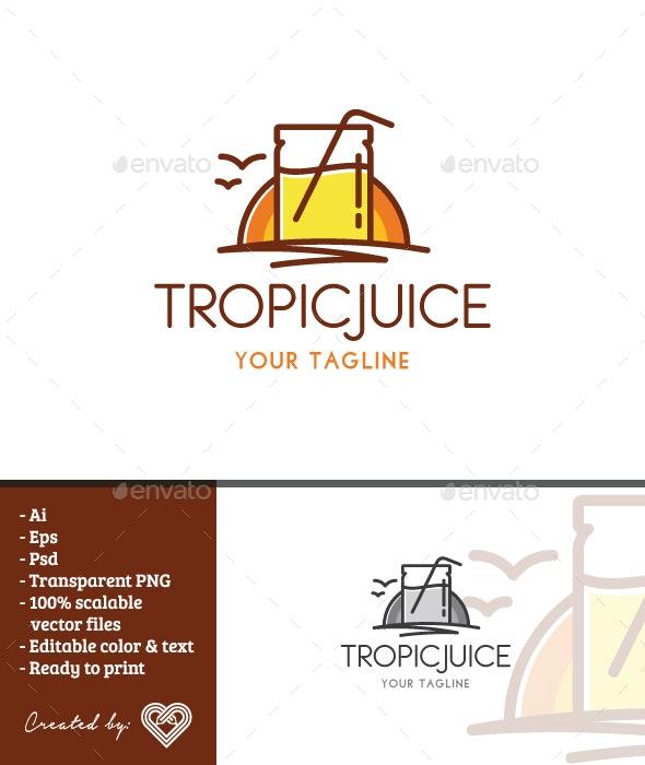 Tropic Juice - Restaurant Logo Templates