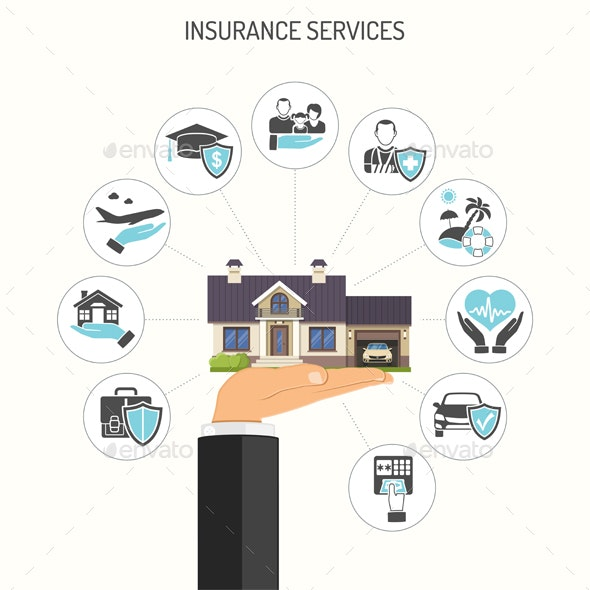 Insurance Services Concept - Services Commercial / Shopping