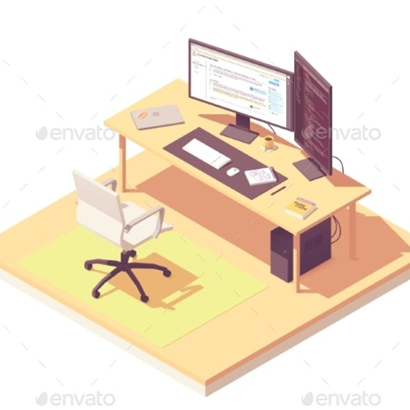 Vector Isometric Programmer Workplace