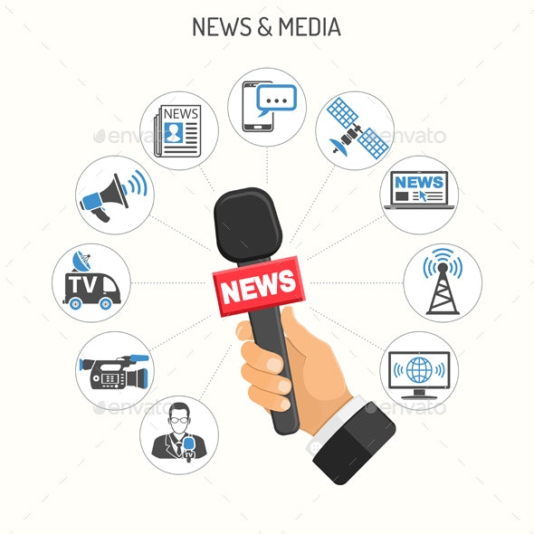 Media and News Concept - Media Technology