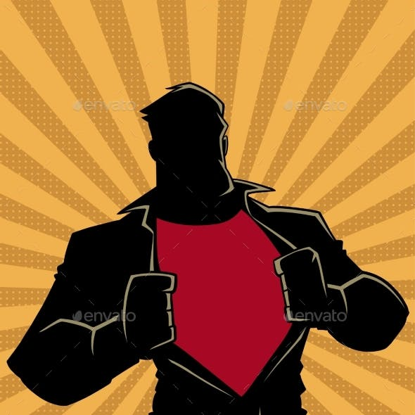 Superhero Under Cover Casual Ray Light Silhouette