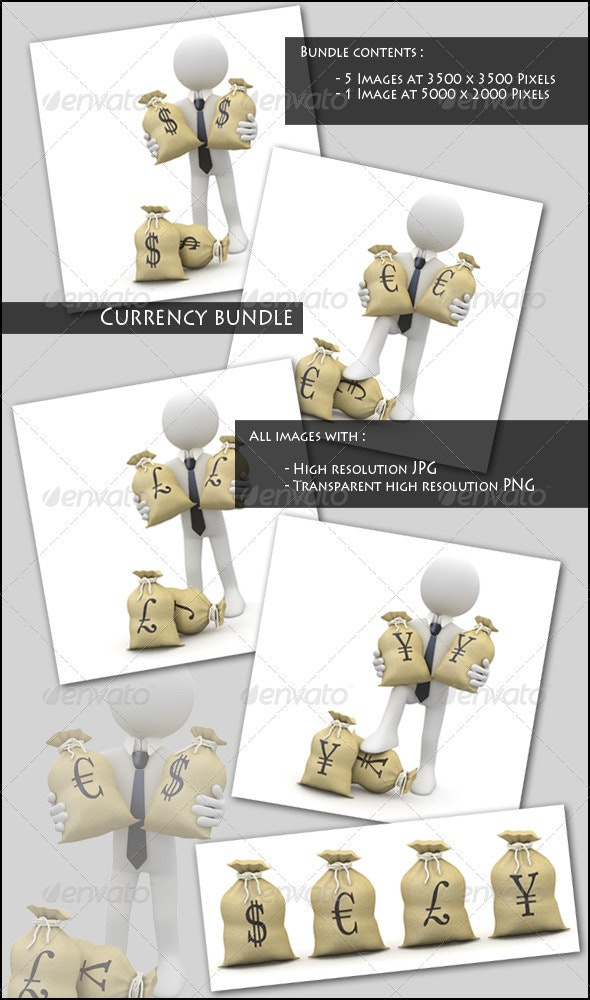 Businessman with Currency Symbols - 3D Renders Graphics