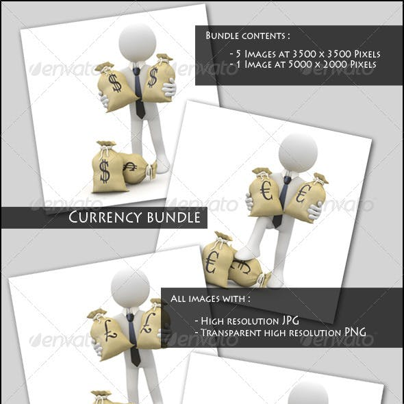 Businessman with Currency Symbols