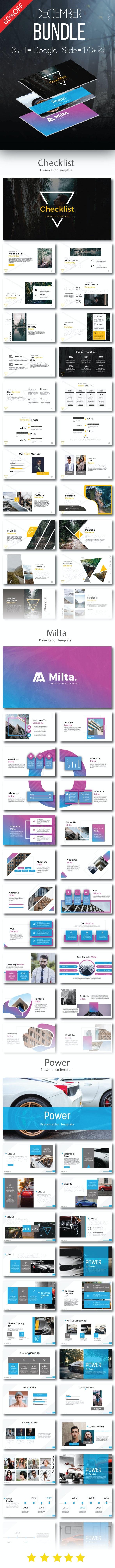 December Bundle 3 in 1 Google Slide - Business PowerPoint Templates