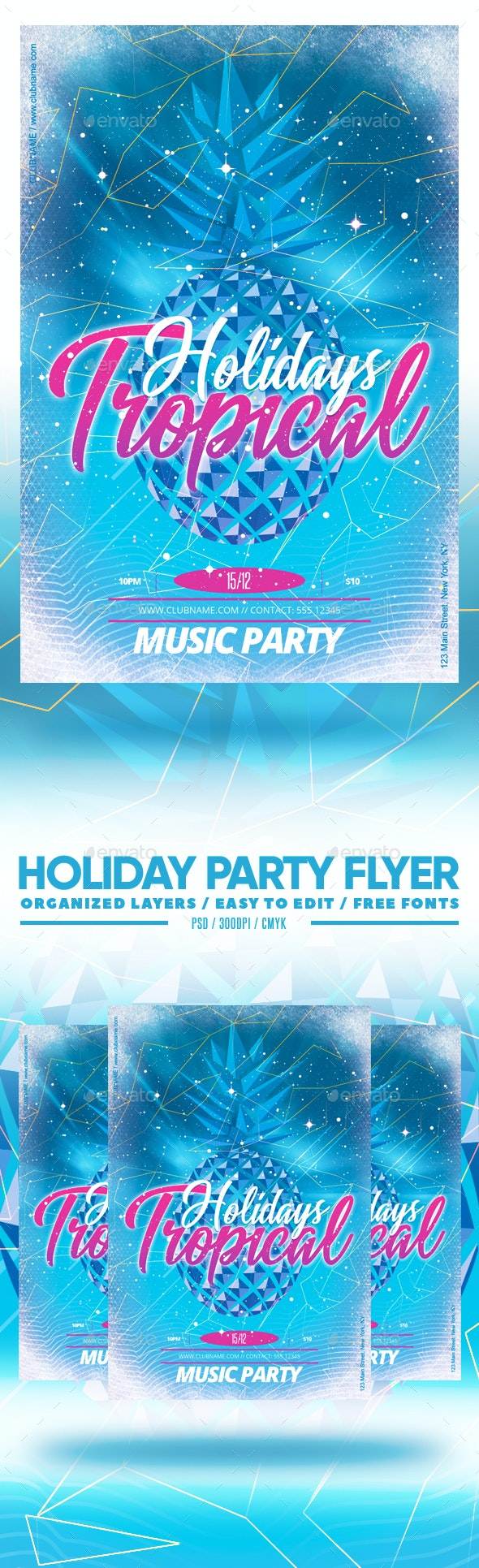 Holiday Party Flyer - Clubs & Parties Events