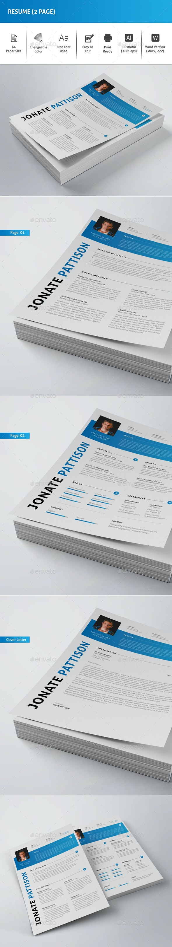 Resume (2 Page) - Resumes Stationery
