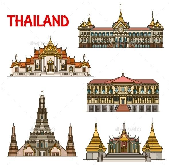 Thai Travel Landmark of Bangkok Architecture - Buildings Objects