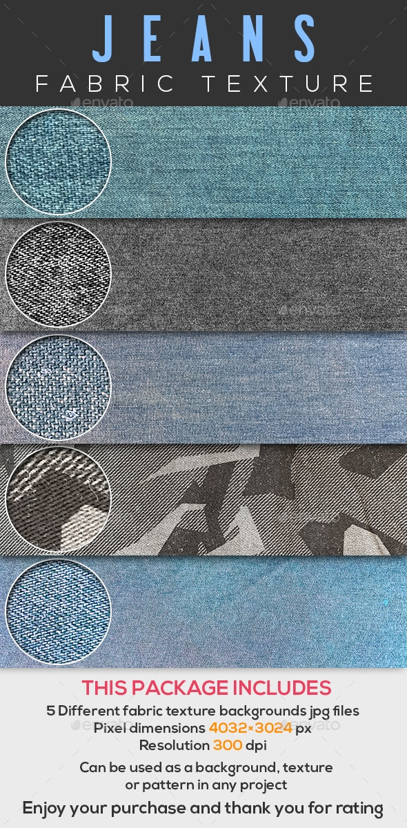 5 Jeans fabric texture - Fabric Textures