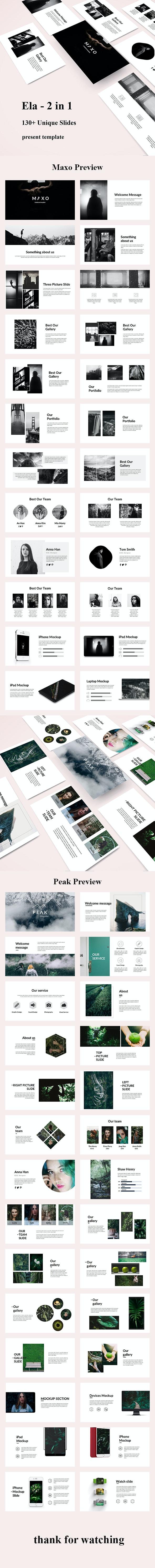 Ela 2 in 1 - Creative Powerpoint Template Bundle - Creative PowerPoint Templates